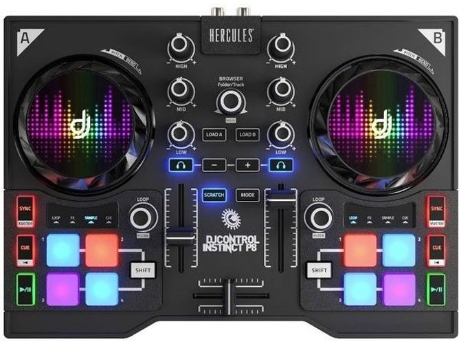 Mesa de mezclas hercules dj control instinct p8 party worten for Mesa de mezclas para pc