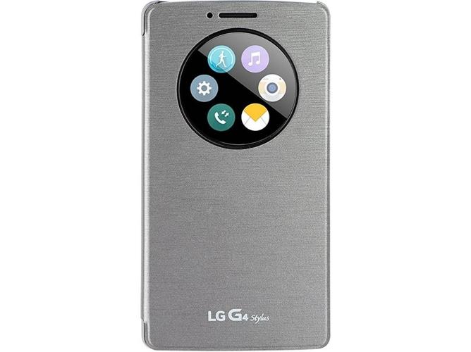 fa2ce78d206 Funda LG G4 Stylus Tapa Plateado