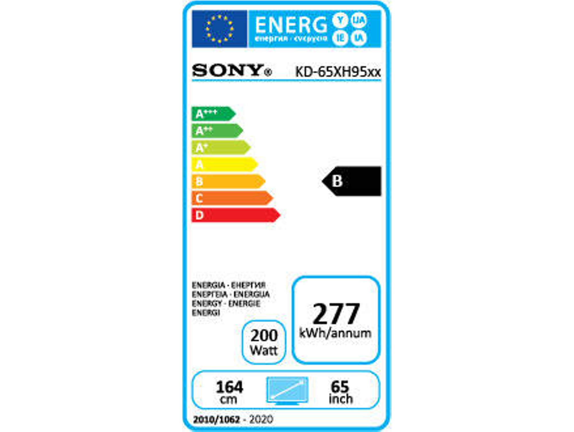TV SONY KD-65XH9505 (LED - 65'' - 165 cm - 4K Ultra HD - Smart TV)