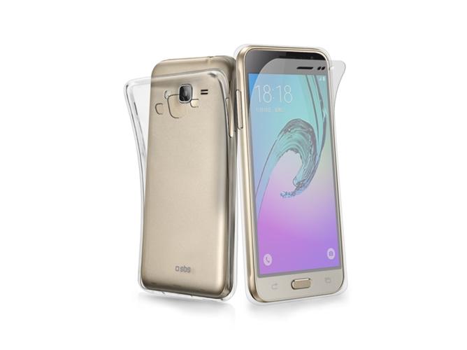 eaa5374b646 Carcasa y Protector de Pantalla Samsung Galaxy J3 2016 SBS Aero Extra-Slim  Transparente