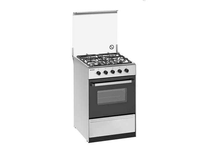 Cocina de gas 4 quemadores becken s 5050 ix a worten for Cocinas de gas ciudad
