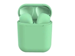 Auriculares Bluetooth True Wireless QIANAO Touch I12 (In ear - Verde)