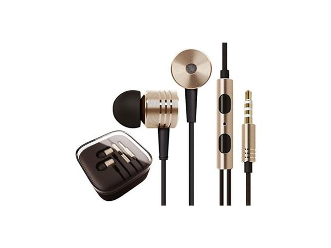 Auriculares de metal KLACK 3.5 mm (Dorado)