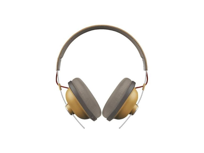 Auriculares Bluetooth PANASONIC Retro RP-HTX80BE (Over ear - Micrófono - Atiende llamadas - beige)