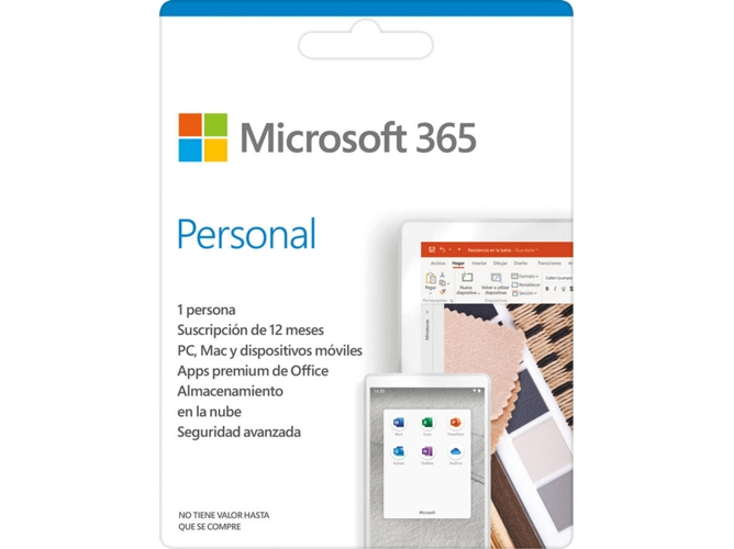 Software MICROSOFT 365 Personal ESD (1 Dispositivo - 1 Año - PC y Mac - Formato Digital) — 1 Licencia | 1 año