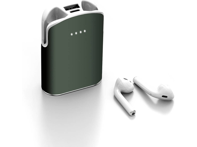 Auriculares Bluetooth True Wireless LAMZIEN G01 (In-Ear - Micrófono - 5000mAh - Verde oscuro)