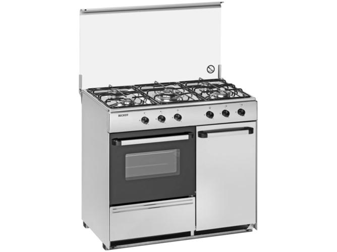 Cocina de gas 6 quemadores becken s 9055 ix worten for Quemadores de cocina de gas butano