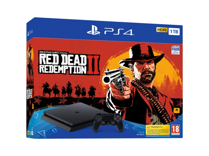 Consola PS4 Slim 1 TB + Red Dead Redemption 2