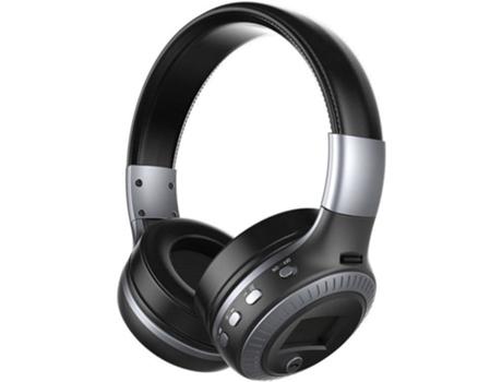 Auscultadores Bluetooth ZEALOT B19 (On Ear - Micrófono - Gris)