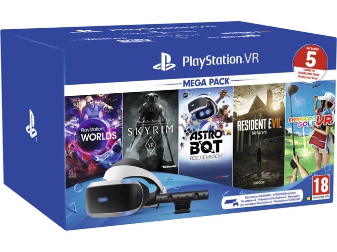Gafas de Realidad Virtual PS VR + 5 Juegos (Worlds + Astrobot + ...