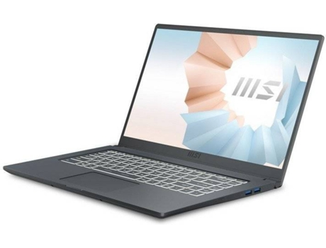 Portátil MSI Modern 15 A11SB-011ES (15.6'' - Intel Core i7-1165G7 - RAM: 16 GB - 1 TB SSD - NVIDIA GeForce MX450) — Windows 10 Home