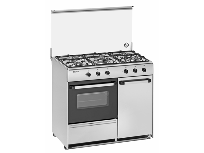 Cocina de gas becken s 9055 ix a worten for Cocinas de gas butano carrefour