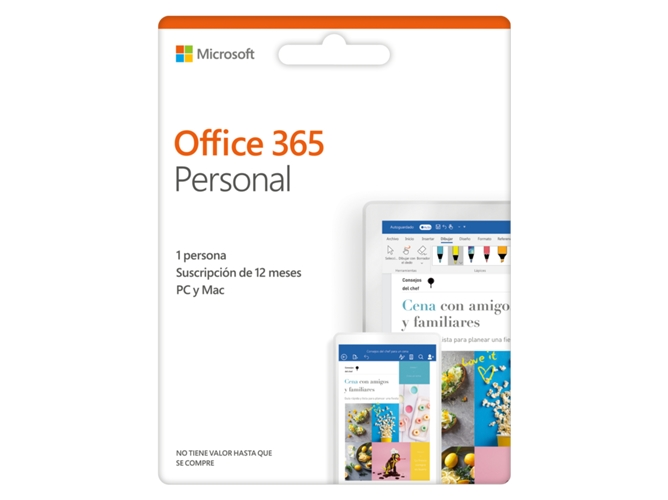 49aff19b83e Software MICROSOFT Office 365 Personal (1 dispositivo - 1 Año)