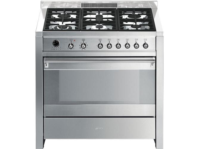 Cocina de gas 6 quemadores smeg opera a1 7 worten for Cocina 6 quemadores