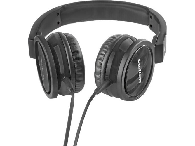 Auriculares con cable QOLTEC 50810 (On ear - Negro)