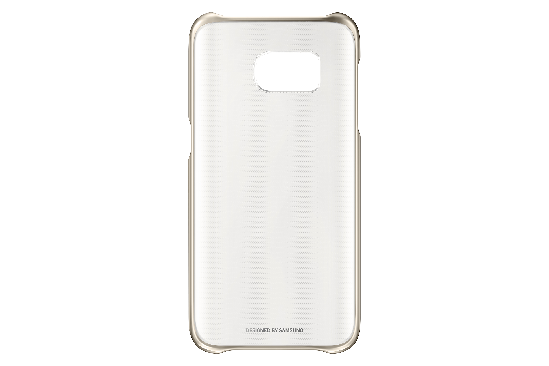 Funda-SAMSUNG-Galaxy-S7-Edge-Clear-Cover-Transparente-Dorado
