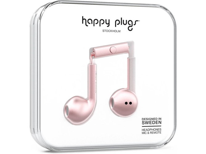 Auriculares HAPPY PLUGS Plus Rose Gold (Rosa)
