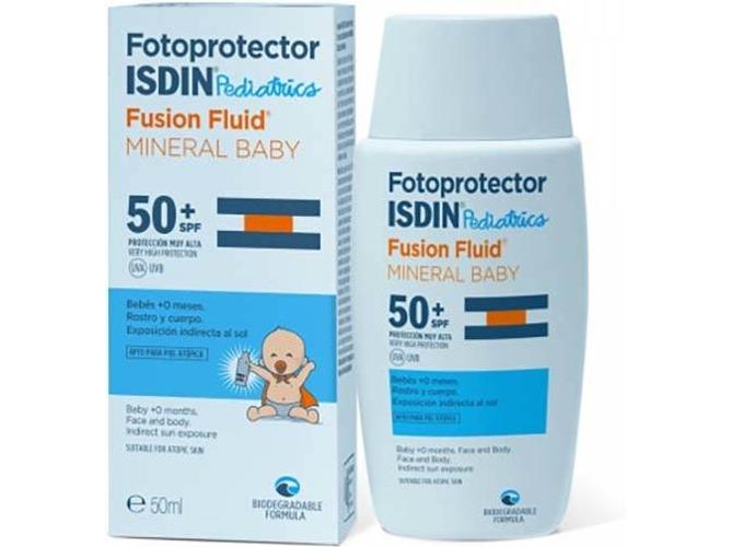 Protector Solar ISDIN Fusion Fluid Mineral Baby Pediatrics SPF50+ (50ml)