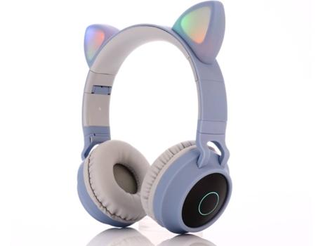 Auscultadores Bluetooth INGLE OHPA BT-028C (On Ear - Micrófono - Gris)