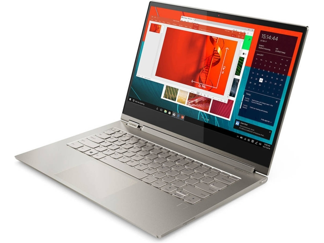 Portátil Convertible 2 en 1 LENOVO Yoga C930 - 81C40083SP (13.9'' - Intel Core i7-8550U - RAM: 16 GB - 512 GB SSD - Intel UHD 620) — Windows 10 Home | 4K