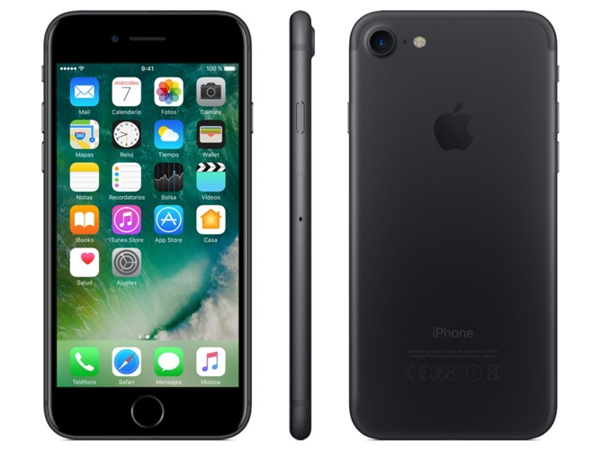 iPhone 7 APPLE (4.7'' - 2 GB - 32 GB - Negro) — 2 GB RAM | Single SIM | 1 Cámara trasera
