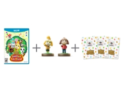 Juego WII U Animal Crossing + 2 Amiibo + 3 Tar